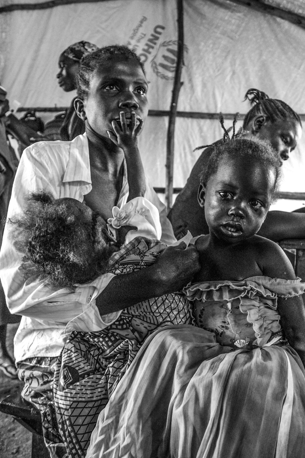 Children are medically screened at Kuluba reception centre on the border of South Sudan and Uganda before being taken to refugee settlements.